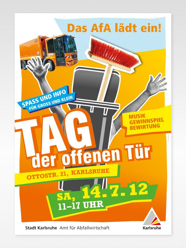 Poster Tag der offenen Tür Amt für Abfallwirtschaft - Stadt Karlsruhe