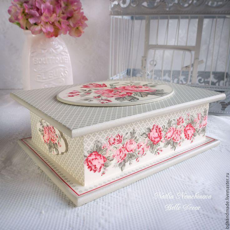 Купить Шкатулка для чайных пакетиков коллекция Shirley linen - декор для дома, декор интерьера, Декупаж