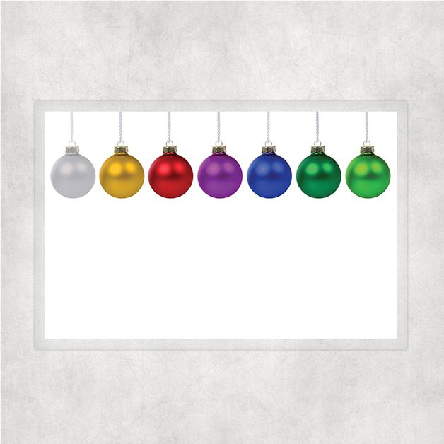 11x17 Laminated Full Color Placemats Rainbow Lqbtq Pride Ornament Themed Coloring Placemats Placemats Laminate