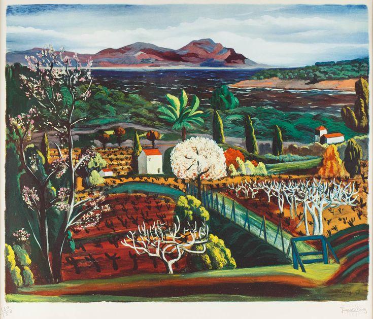 MOJŻESZ KISLING (1891 - 1953)  PEJZAŻ   litografia, papier / 50 x 59 cm