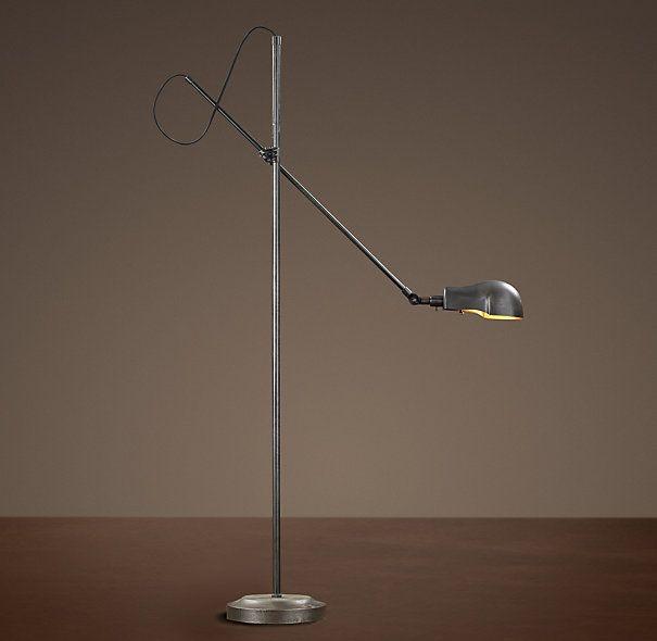 For near sectional, 1900S PHARMACY FLOOR LAMP AGED STEEL  $249