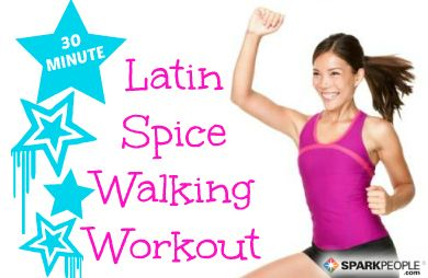 30-Minute Latin Spice Indoor Walking Workout: Join @Jess Pearl Liu Smith Gomez for a fun cardio routine you can do in your living room! | via @SparkPeople #fitness #exercise #video