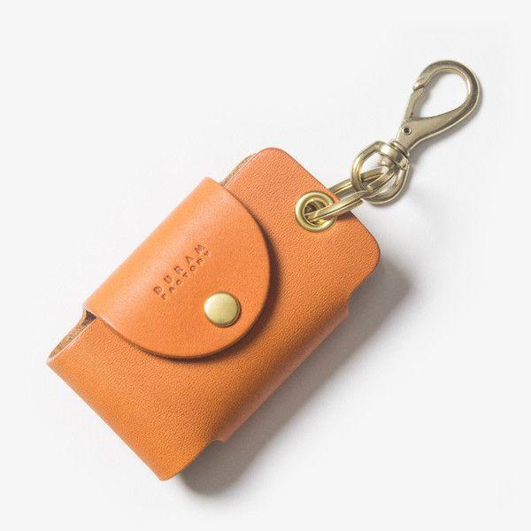 Leather Smart Key Case - Light Brown