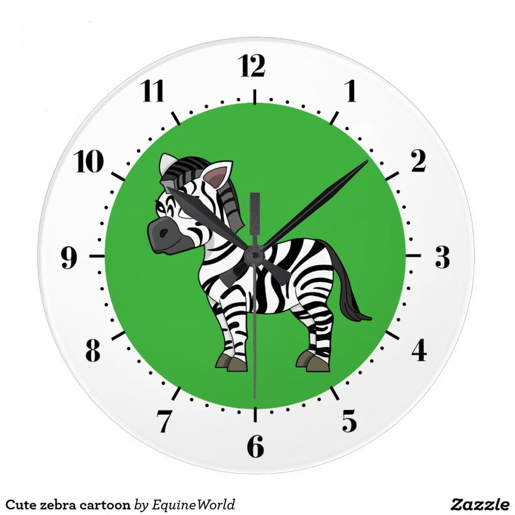Cute zebra cartoon wallclock