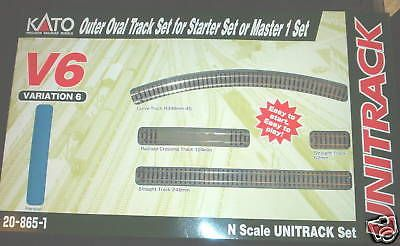 Track 69813: Kato Unitrack N Scale Large Oval V6 20-865-1 -> BUY IT NOW ONLY: $33.99 on eBay!