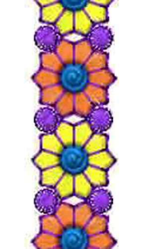 Footwear Embroidery Designer Lace Border Design