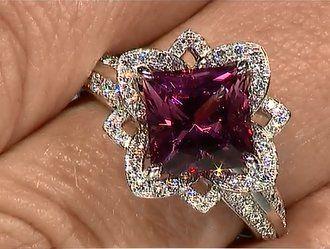 Bague en tourmaline rose et diamant