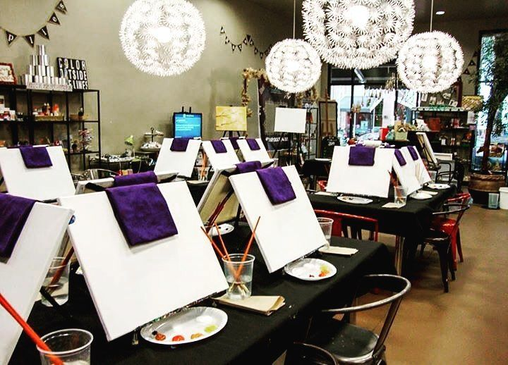 """This Thursday is our monthly paint sesh with Vino and Canvas! Grab your friends and sign up for our creative paint night! Just $25 when you use the promo code """"PINSPIRATION"""" at sign up! Last chance to sign up!! >>> http://ift.tt/1Tl1pdN #pinspirationaz #pinterest #az #vinoandcanvas #canvaspainting #paintparty #gno #girlsnightout #wineandcanvas #highstreetaz #vino"""