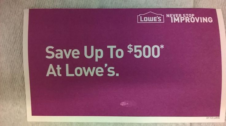 Many watchers! Get it while you can!! *SUPER RARE* LOWES 10% off discount upto $500 each total $4000, NO EXPIRATION