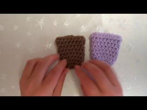 How to Crochet My Easy Chair Gliders/Chair Socks US and UK terms - YouTube