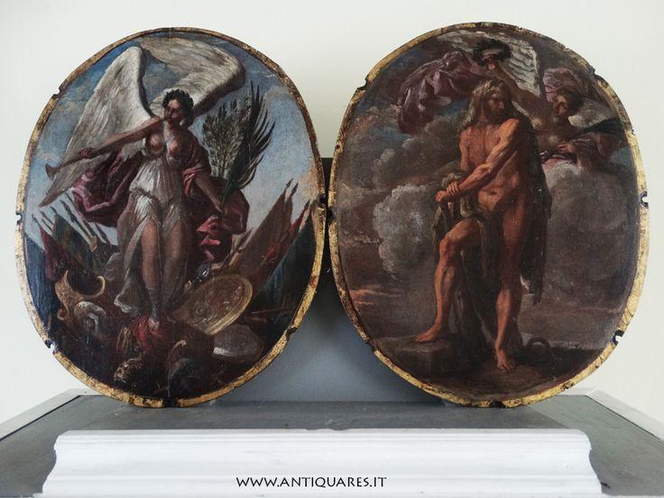 Enigmatica coppia di dipinti su tavola del '600 - ANTIQUARES