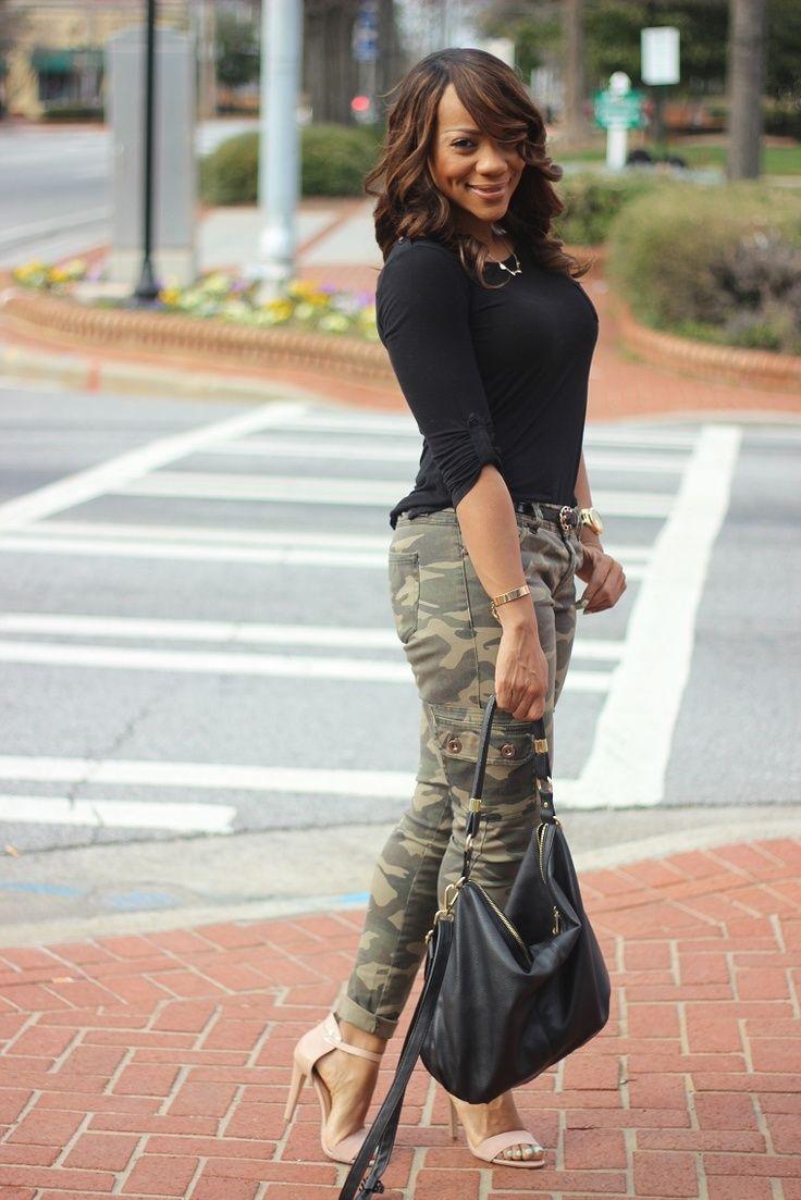 Womens Camo Fashion Tops