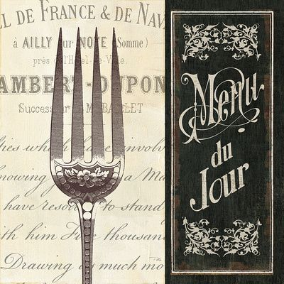 French Menu II Poster - AllPosters.co.uk
