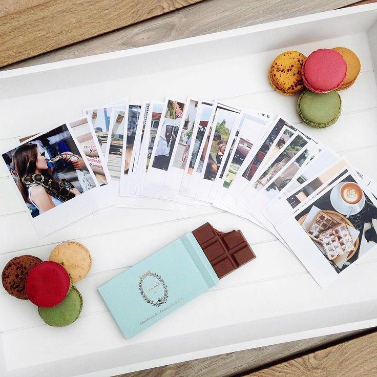 Chocolate, macaroons and polaroids. Perfect combination. #squaredone #chocolate #macaroons #polaroids #polaroidpic #developedphotos