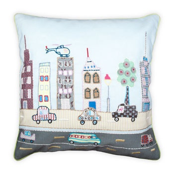 kids city cushion for the boy gifts netherlands. Black Bedroom Furniture Sets. Home Design Ideas