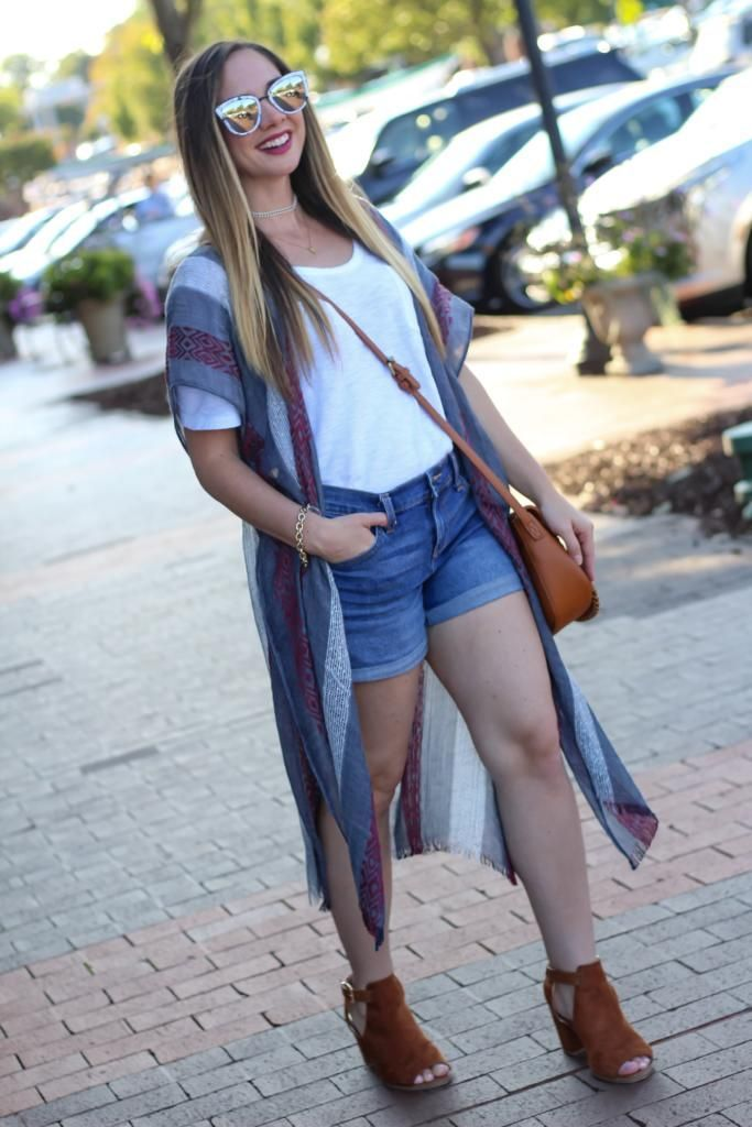 fall outfit with long kimono