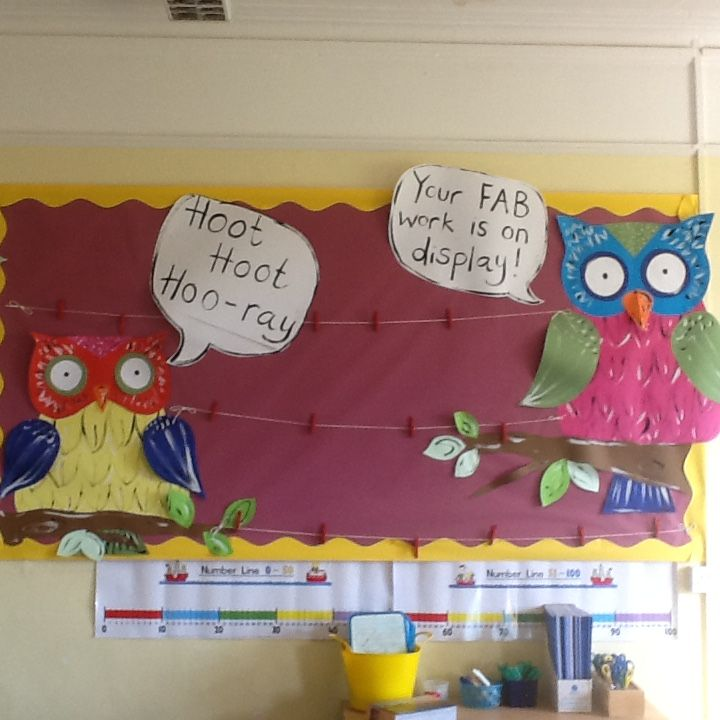 A washing line to display examples of good work.