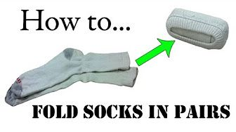 Tips on how to fold socks properly - YouTube