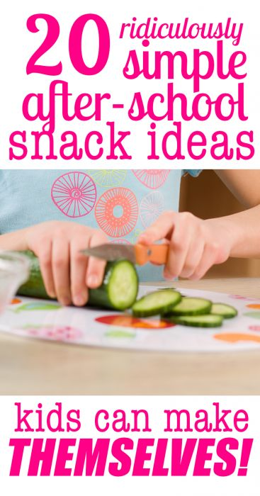 Make After-School Snacking a breeze with these 20 Ridiculously Simple After School Snack Ideas that Kids can make THEMSELVES!
