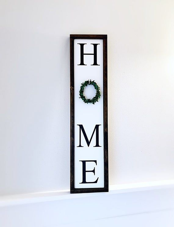 Vertical Home Sign Living Room Wall Decor Fireplace Decor Etsy In 2020 Wall Decor Living Room Fireplace Decor Home Signs