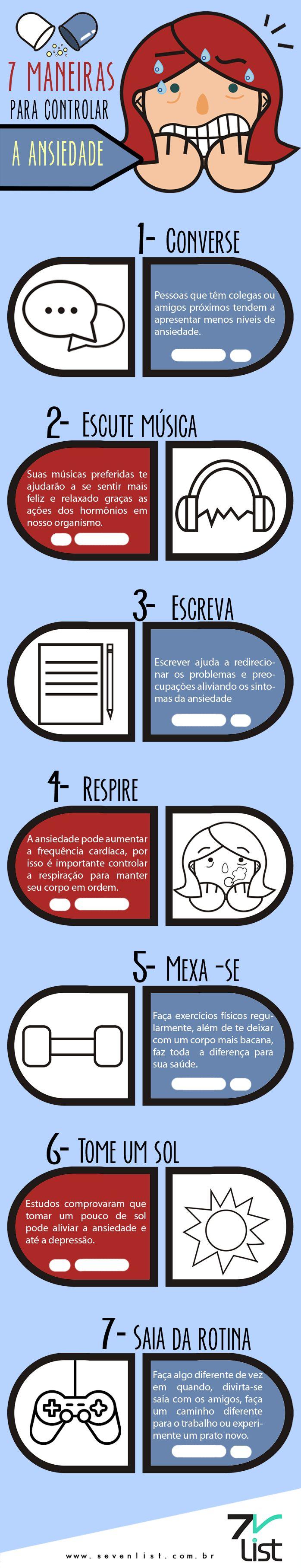 Quando bate aquela ansiedade pode ser bem difícil combatê-la, pensando nisso o Seven List separou 7 maneiras para controlar a ansiedade...