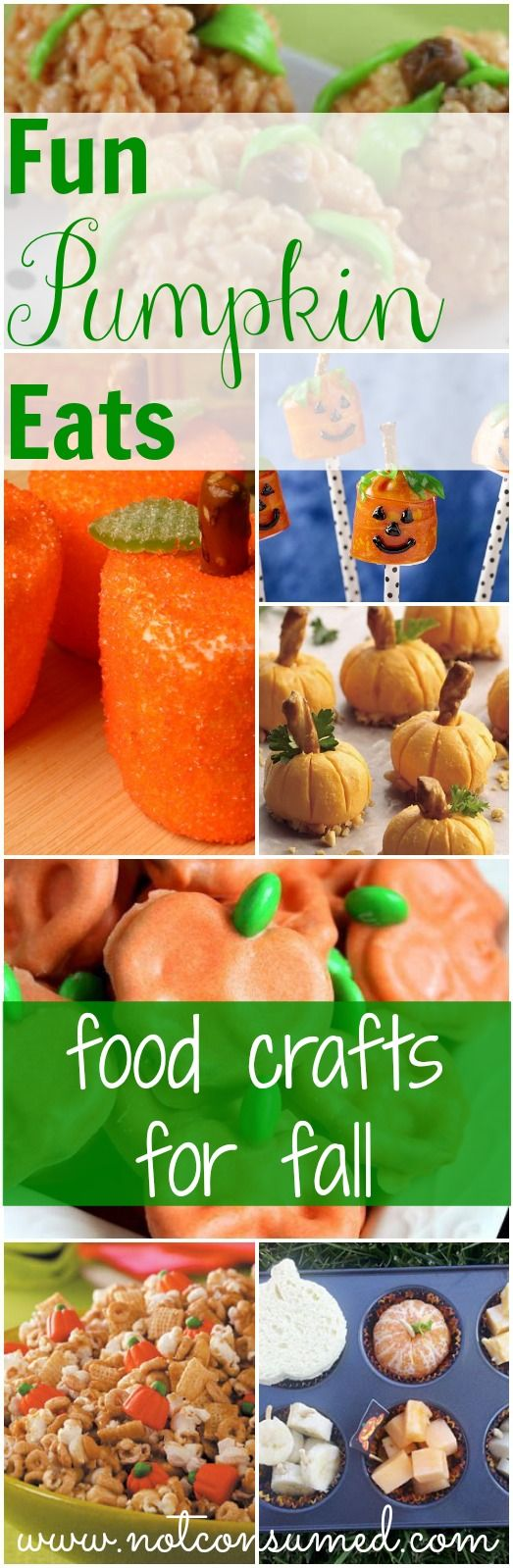 Don't you just love crafts that you can eat? If so, you'll love these fun pumpkin food crafts for fall.