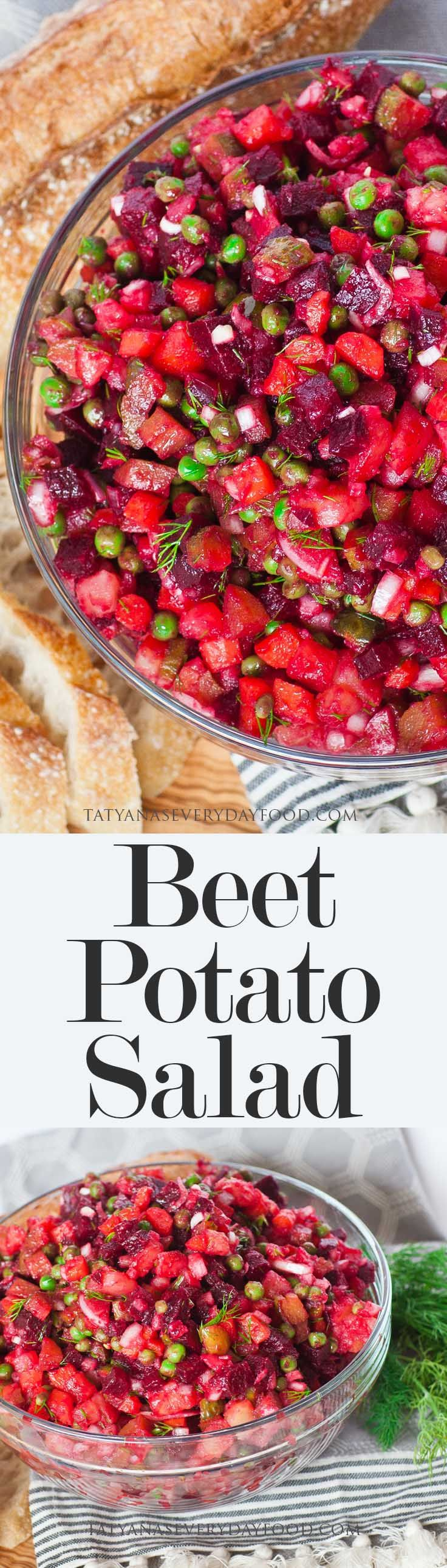 Vinaigrette Beet Potato Salad - Tatyanas Everyday Food