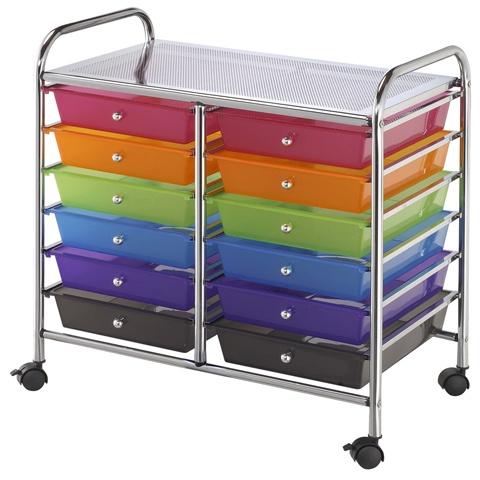 12 drawer rolling craft cart 1