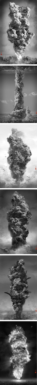 Entre la tour de Babel et Hiroshima... découvrez les photomontages de Yang Yongliang