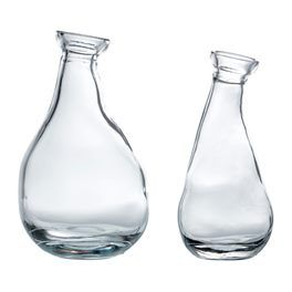 IKEA VARVIND Vase, Set of 2, Clear Glass