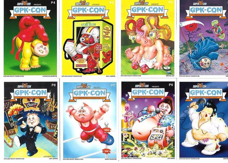 GARBAGE PAIL KIDS GPK CON LIMITED CARD SET TOM BUNK SMOKIN JOE SIMKO ENGSTROM