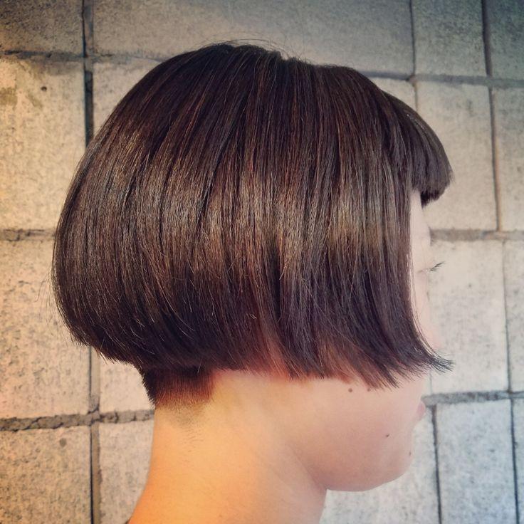 刈り上げショートボブスタイル   桜木町・日ノ出町・野毛のプライベートな美容室irodoriyaと40歳2児の母店主の日常