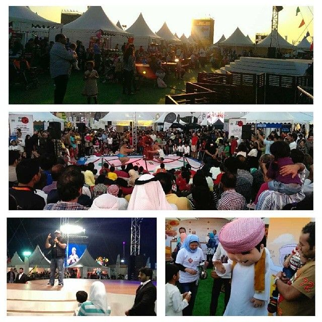 .@lodgaard | Stand-up comedy, sumo wrestling, and human beat boxers... Not all was abt food at Dubai Food Festival 2014