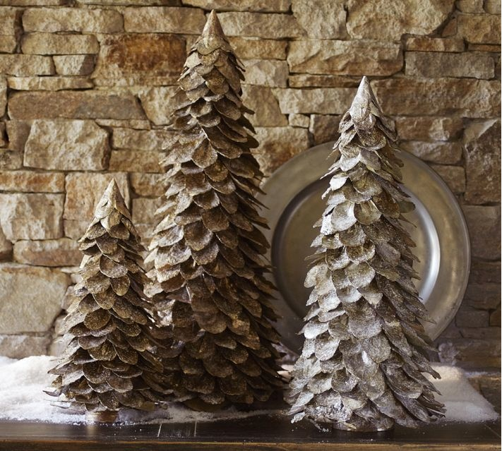 Beautiful feather trees from Pottery Barn