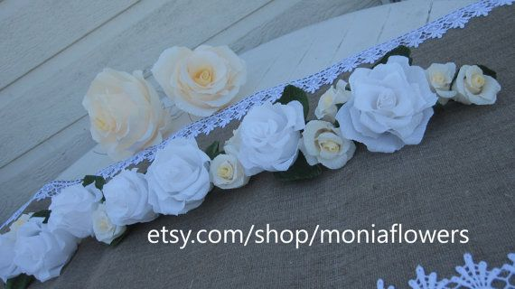 GARLAND RUSTIC decorations wedding TABLE by moniaflowers on Etsy