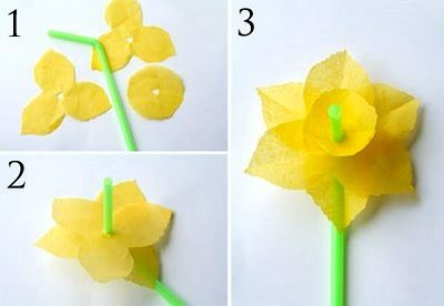 Make simple flowers for Easter with your kids. Great craft tutorial.