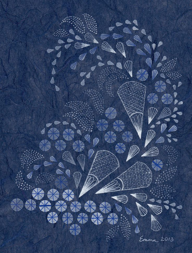 Blue Arc 2013 by Emma Jennings Gouache on Japanese Unryushi Paper 16cm x 12.5cm www.emmajennings.com.au
