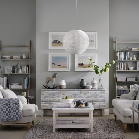 coastal style grey living room