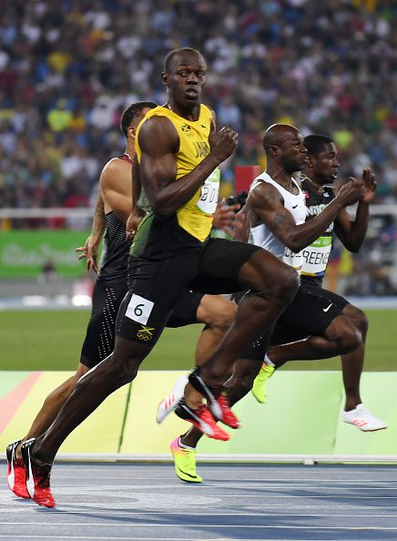 Jamaica's Usain Bolt competes in the Men's Semifinal during the athletics… 2016 Pictures, Usa Olympics, Usain Bolt, Rio 2016, 100m, Team Usa, Athletics, Jamaica, The Man