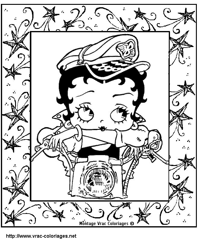 Betty Boop Coloring Pages Picture 1 Activity