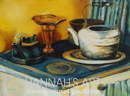 Artist: HANNAH, Old coal stove, oil on canvas, 600 x 450, Price on request