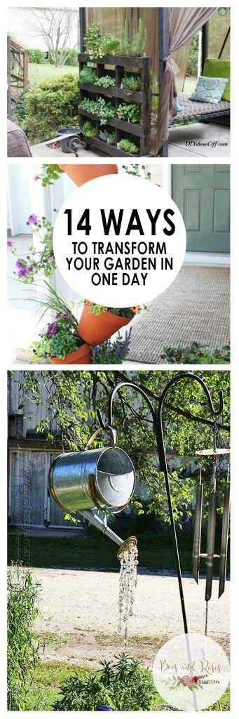 14 Ways to Transform Your Garden In One Day