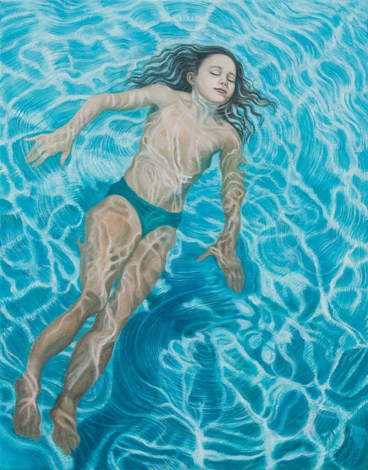 "Linda Smith, Mermaid, 2008, oil on linen, 18"" x 14"" lindasmithart.com"