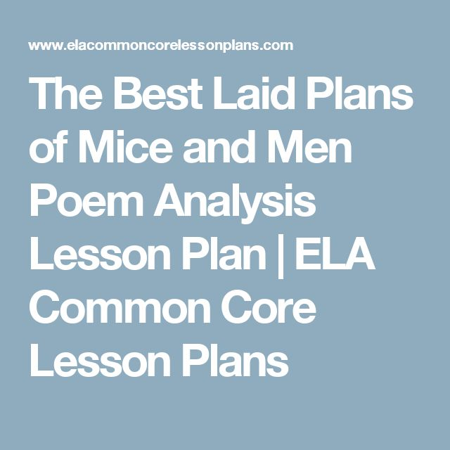 the best laid plans of mice Women in combat essay women in combat 1316 words | 6 pages and execute your plans in a time competitive environment the.