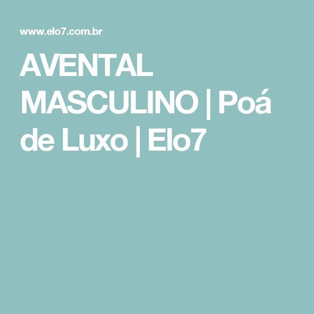 AVENTAL MASCULINO | Poá de Luxo | Elo7