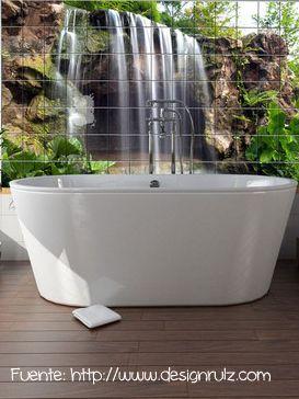 Para el baño se pueden conseguir cerámicos con diferentes imágenes.
