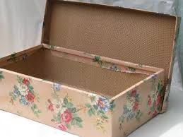 Aprons of an antique box.