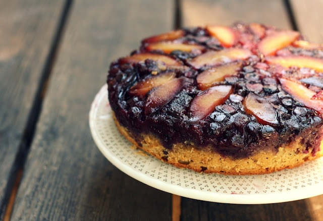 Plum Blueberry Upside-Down Cake | Favorite Recipes | Pinterest