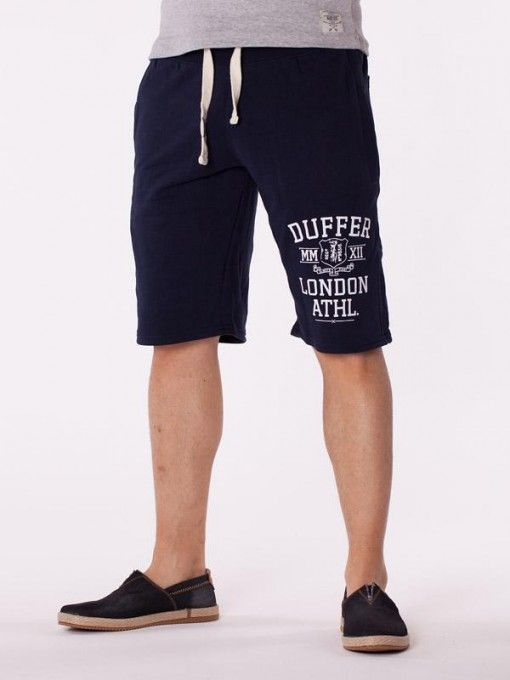 Pantaloni scurti barbati Duffer London albastru inchis