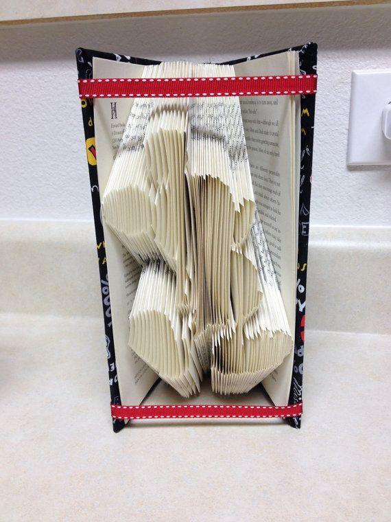 Mickey Book Folding Art Home Decor Baby Boy by KTBookDesigns